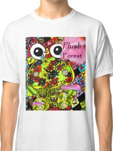 Plush forest coloring book cover Classic T-Shirt