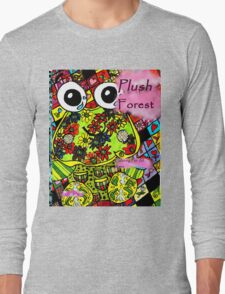Plush forest coloring book cover Long Sleeve T-Shirt