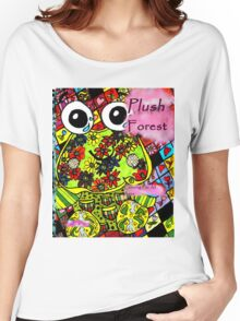 Plush forest coloring book cover Women's Relaxed Fit T-Shirt