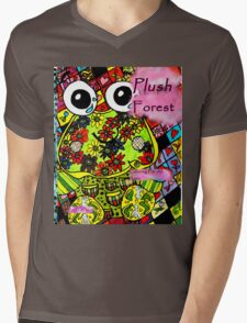 Plush forest coloring book cover Mens V-Neck T-Shirt