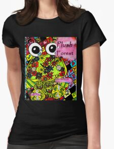 Plush forest coloring book cover Womens Fitted T-Shirt