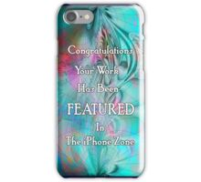 iphone zone.. weekly feature banner iPhone Case/Skin