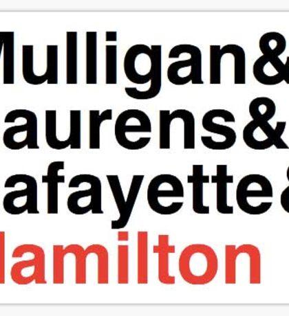 Hamilton Musical - Hamilton's 3 Friends Sticker