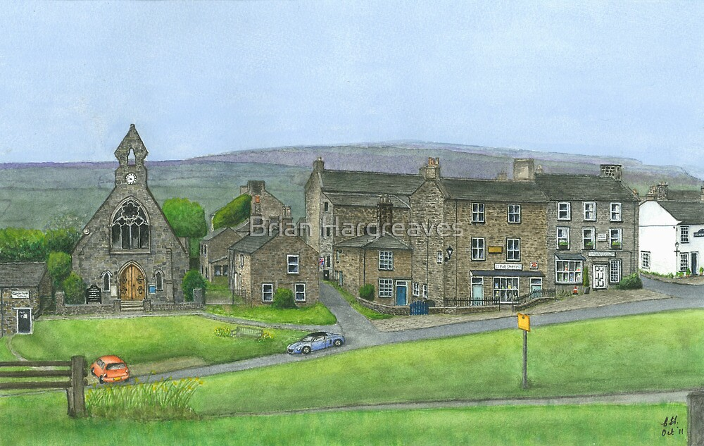 Reeth Chapel and Green, Swaledale by Brian Hargreaves