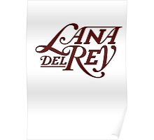 Lana Del Ray Logo Red Poster