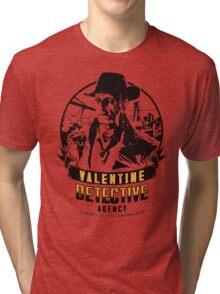 Valentine Detective Agency - Black Tri-blend T-Shirt