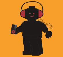 Minifig with Headphones & iPod by Customize My Minifig by ChilleeW