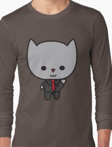 Kawaii Cat with Tie Long Sleeve T-Shirt