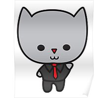 Kawaii Cat with Tie Poster