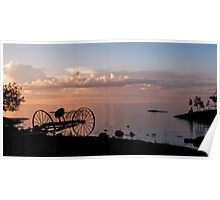 Evening Bell. Sunset on Valaam Island. Northern Russia Poster