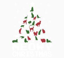 Meowy Christmas Cat Tree Baby Tee