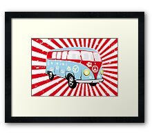 VW T1 van retro illustration Framed Print