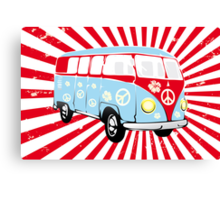 VW T1 van retro illustration Canvas Print