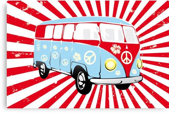 VW T1 van retro illustration by schtroumpf2510