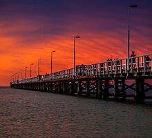 Blood Sky Busselton by Russell Charters