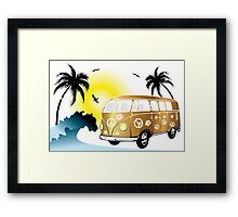 VW T1 on the beach Framed Print