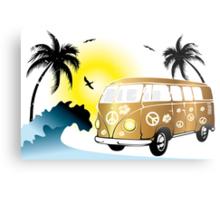 VW T1 on the beach Metal Print