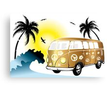 VW T1 on the beach Canvas Print
