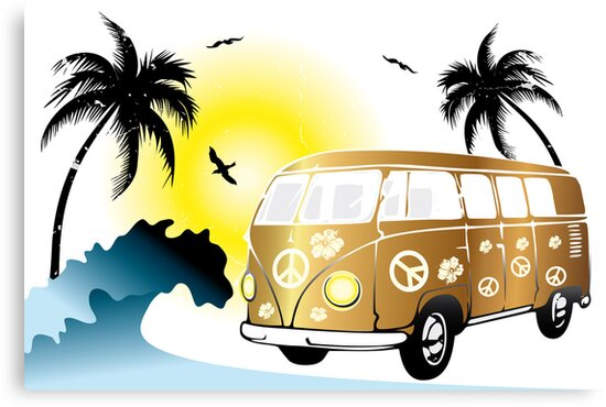 VW T1 on the beach by schtroumpf2510