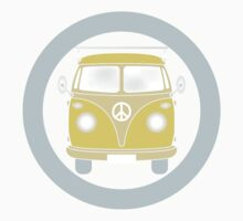 VW T1 bus in retro colors by schtroumpf2510