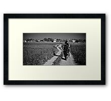 A Woman's Path Framed Print
