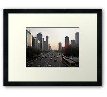 Modern Beijing Framed Print