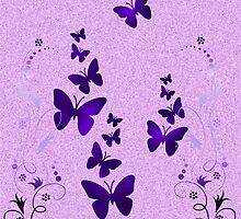 purple butterfly by Enri-Art