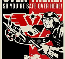 "INGSOC ""Over There"" 1984 Propaganda Poster by LibertyManiacs"