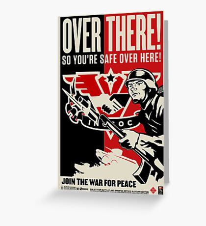 "INGSOC ""Over There"" 1984 Propaganda Poster Greeting Card"