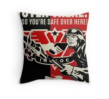 """INGSOC """"Over There"""" 1984 Propaganda Poster Throw Pillow"""