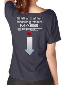 Still a better (rear) ending than Mass Effect 3 Women's Relaxed Fit T-Shirt