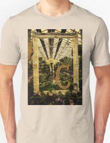 """Grungy Melbourne Australia Alphabet Series Letter """"C"""" Conservatory T-Shirt"""