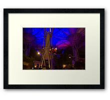 Covered stretch of Clarke Quay with restaurants and other attractions Framed Print