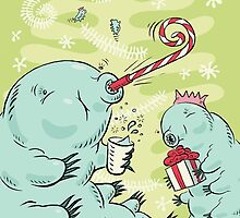Christmas Tardigrade by pixbyrichard