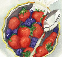 Berries and Cream by Leslie Gustafson