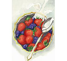 Berries and Cream Photographic Print