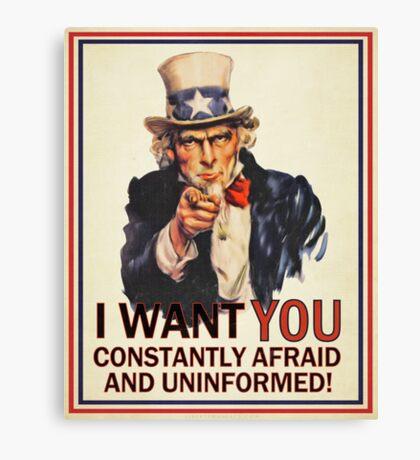 Uncle Sam Fear & Ignorance Canvas Print