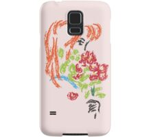 Girl with Flowers Samsung Galaxy Case/Skin