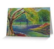 Irvine Park Lake - Plein Air Quick Study Greeting Card