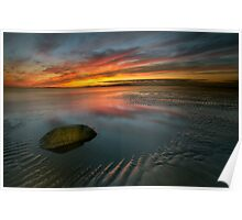 Allonby sunset Poster