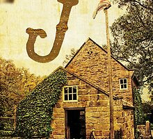 "Grungy Melbourne Australia Alphabet Letter ""J"" James Cook by Beverly Claire Kaiya"