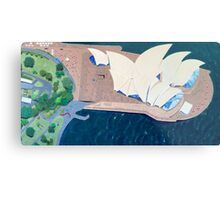 The Sydney Opera House by Stephanie Burns Metal Print