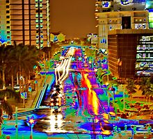Miami Night Traffic by Terry Neves