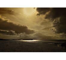 A golden moment - Local Hero beach Photographic Print