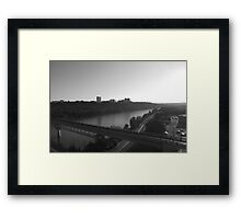 Suburbia on the River Framed Print