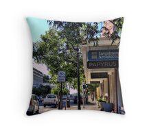 city sidewalk Throw Pillow