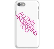 Prince Batdance All This and Brains Too (White) iPhone Case/Skin
