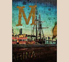 Grungy Melbourne Australia Alphabet Letter M Marina Docklands Unisex T-Shirt