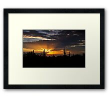 As the Sun Sets in the West  Framed Print