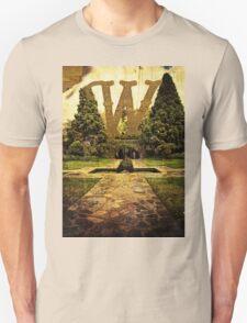 Grungy Melbourne Australia Alphabet Letter W Pioneer Women's Memorial Garden Unisex T-Shirt